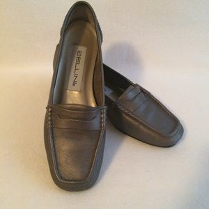 Bellini Leather Loafers Annie Gray Graphite Shoes